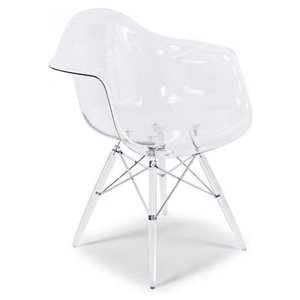 Nicer Interior EamesDining Armchair - Clear - Set of 4