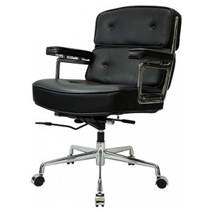 Nicer Interior Eames Executive Office Chair - Black Leather