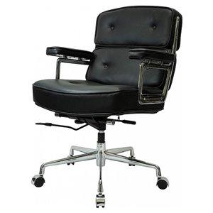 Chaise de cadre Eames par Nicer Interior, cuir noir