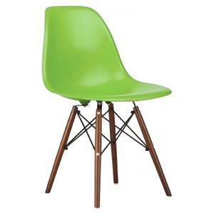 Chaise pour salle à manger Eiffel de Nicer Interior, vert/bois brun, ens. de 4