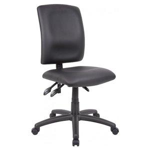 Chaise d'ordinateur multifonction ergonomique par Nicer Interior, polyurethane noir