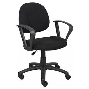 Chaise de bureau à roulettes Deluxe de Nicer Interior, noir