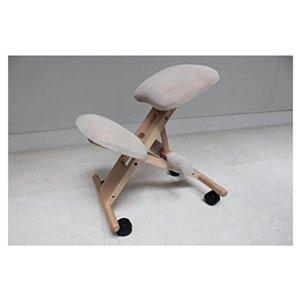 Chaise de dessinateur en mousse mémoire par Nicer Interior, gris et cadre en bois naturel