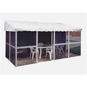 Gazebo Penguin Add-A-Room Semi-Permanent Rectangle Gazebo - Aluminum - 22.5-ft x 11-ft - White