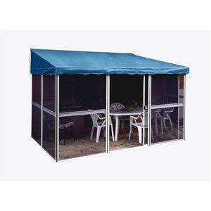 Gazebo Penguin Add-A-Room Semi-Permanent Rectangle Gazebo - Aluminum - 11.3-ft x 7.5-ft - Blue