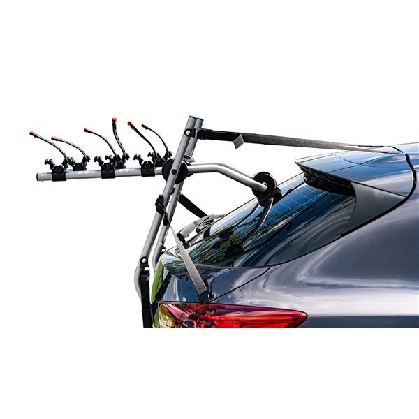 DK2 Trunk Mounted Bike Carrier for up to 3 Bikes - Aluminum - 19.5-in x 34-in x 6-in