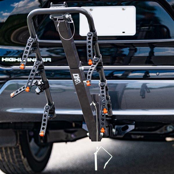 Support à vélos sur attelage pour 4 vélos de DK2, acier, 22,5 po x 14 po x 3,75 po