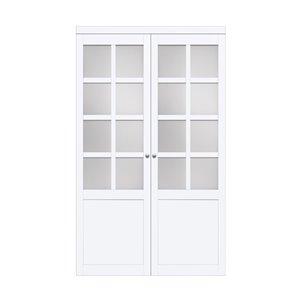 Renin Provincial Pivot Closet Door - 72-in x 80-in - White