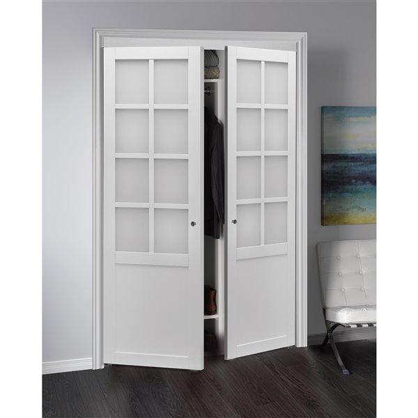 Renin Provincial Pivot Closet Door - 48-in x 80-in - White