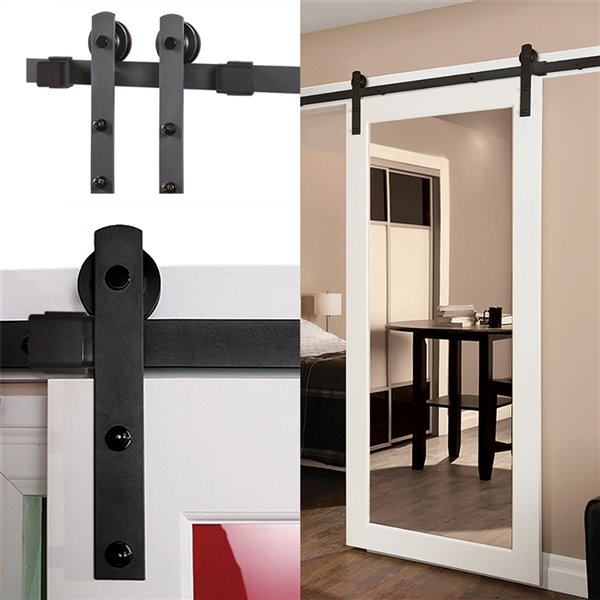 Renin Barn Door Straight Strap Hardware Kit 96 In Bd200k 09600 Mb Rona