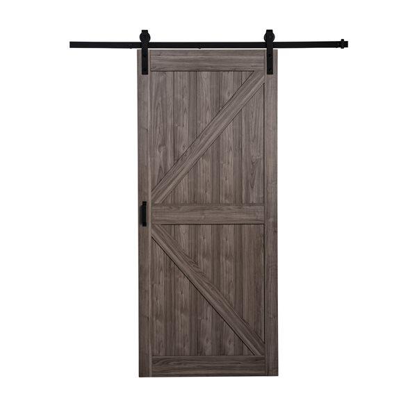 Renin K-Design Rustic Barn Door - 36-in x 84-in - Iron Age