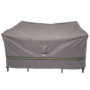 Duck Covers Soteria Rain Proof Square Patio Table Cover - Polyester - 92-in - Grey