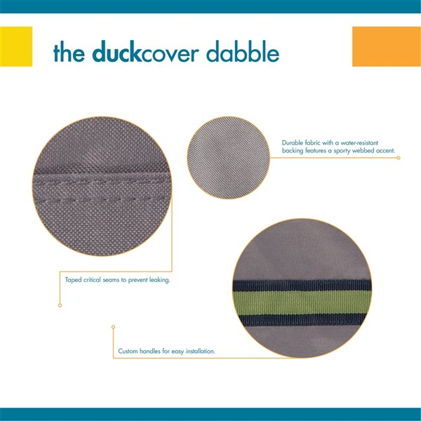 Duck Covers Soteria Rain Proof Round Fire Pit Cover - 36-in - Grey