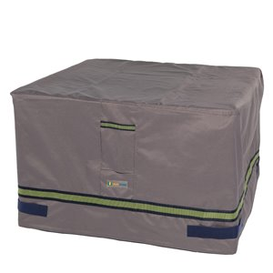 Duck Covers Soteria Rain Proof Square Fire Pit Cover - 50-in - Grey