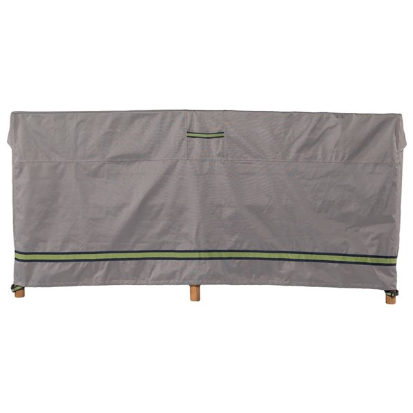 Duck Covers Soteria Rain Proof Patio Loveseat Cover - Polyester - 54-in - Grey