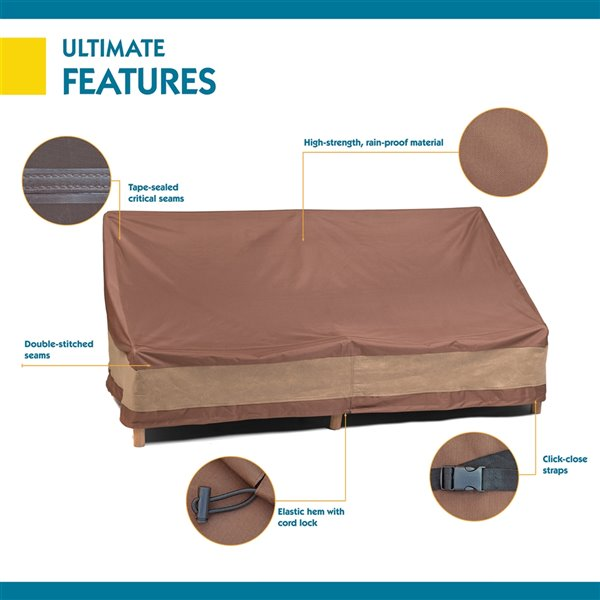 Duck Covers Ultimate Patio Sofa Cover - Polyester - 93-in - Mocha Cappuccino