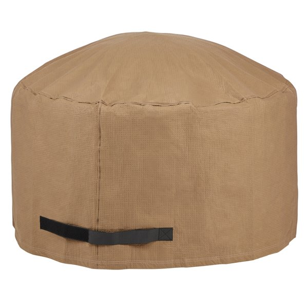 Duck Covers Essential Round Fire Pit Cover - 42-in - Latte Brown