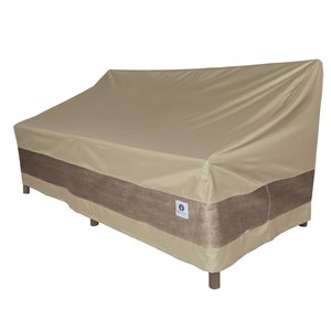 Duck Covers Elegant Patio Sofa Cover - Polyester - 104-in - Swiss Coffee