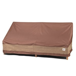 Duck Covers Ultimate Patio Loveseat Cover - Polyester - 70-in - Mocha Cappuccino
