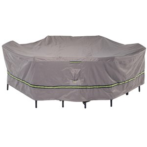 Duck Covers Soteria Rain Proof Rectangular/Oval Patio Table Cover - Polyester - 84-in - Grey