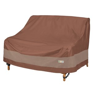 Duck Covers Ultimate Loveseat Cover - Polyester - 42-in - Mocha Cappuccino
