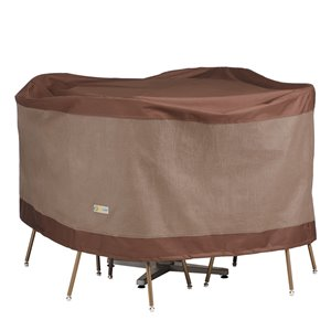 Duck Covers Ultimate Round Table and Chair Set Cover - Polyester - 56-in - Mocha Cappuccino
