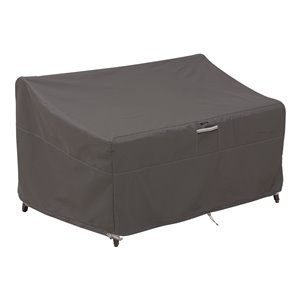 Classic Accessories Ravenna Patio Loveseat Cover - Polyester - 40-in - Dark Taupe