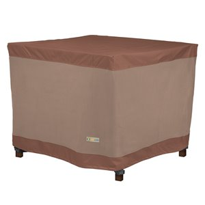Duck Covers Ultimate Square Table Cover - Polyester - 42-in - Mocha Cappuccino