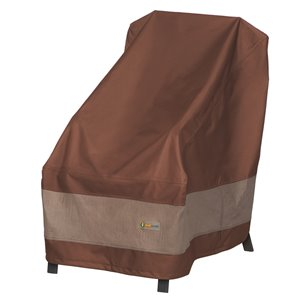 Duck Covers Ultimate High-Back Chair Cover - Polyester - 35-in - Mocha Cappuccino