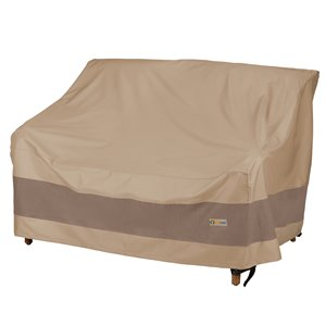 Duck Covers Elegant Loveseat Cover - Polyester - 60-in - Swiss Coffee