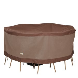 Duck Covers Ultimate Round Table and Chair Set Cover - Polyester - 62-in - Mocha Cappuccino