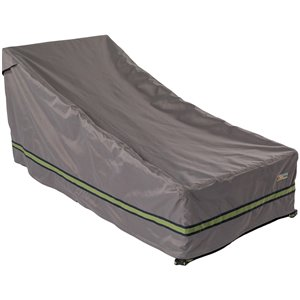 Duck Covers Soteria Rain Proof Chaise Lounge Cover - Polyester - 80-in - Grey