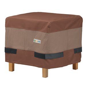Duck Covers Ultimate Side Table Cover - Polyester - 22-in - Mocha Cappuccino