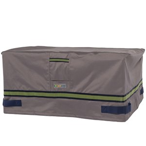 Duck Covers Soteria Rain Proof Rectangular Fire Pit Cover - 56-in - Grey