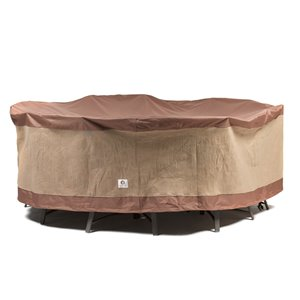 Duck Covers Ultimate Round Patio Table Cover - Polyester - 108-in - Mocha Cappuccino