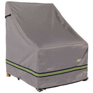 Duck Covers Soteria Rain Proof Stackable Patio Chair Cover - Polyester - 28-in - Grey