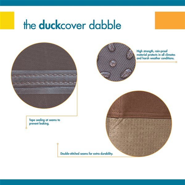 Duck Covers Ultimate Canopy Swing Cover -Polyester - 62-in - Mocha Cappuccino
