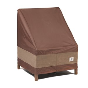 Duck Covers Ultimate Stackable Patio Chair Cover - Polyester - 28-in - Mocha Cappuccino