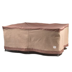 Duck Covers Ultimate Square Patio Table Cover - Polyester - 92-in - Mocha Cappuccino