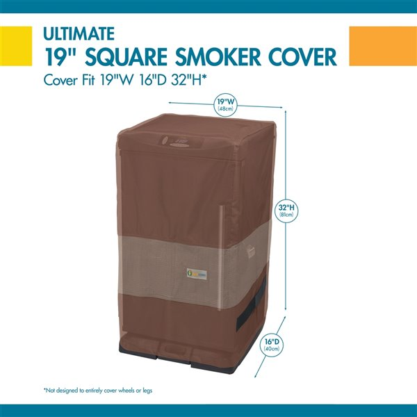 Duck Covers Ultimate Square Smoker Cover - 18-in