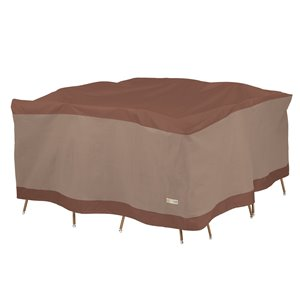 Duck Covers Ultimate Square Table and Chair Set Cover - Polyester - 100-in - Mocha Cappuccino