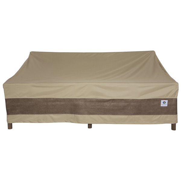Duck Covers Elegant Patio Sofa Cover - Polyester - 87-in - Swiss Coffee