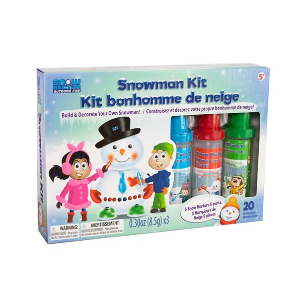 Snow Sector Snow Man kit 20 pieces set with 3 Snow Marker colours
