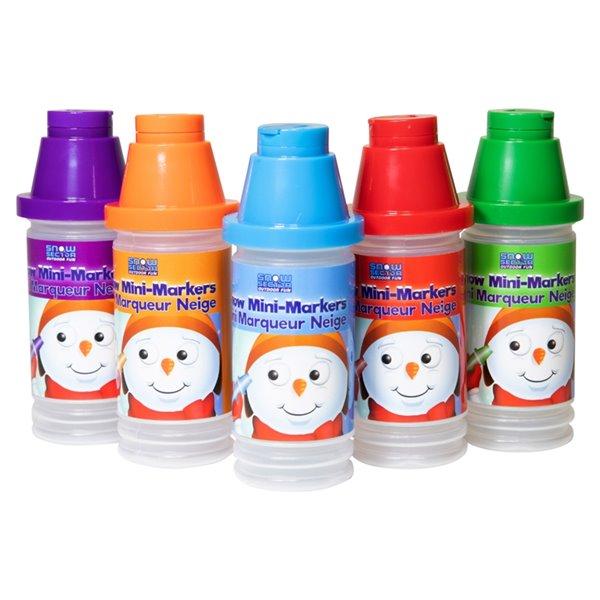 Ensemble de 5 marqueurs à neige mini, couleurs assorties