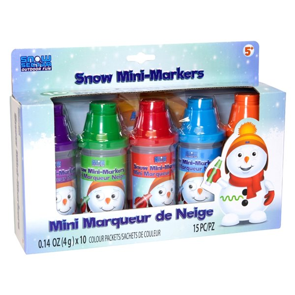 Snow Sector Mini Snow Markers 5 Assorted  Colours.