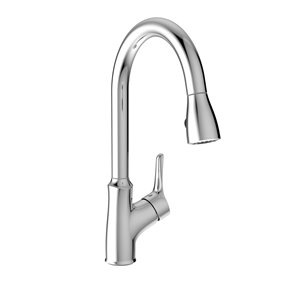 Belanger Kitchen Sink Faucet with Swivel Pull-Down Spout - Polished Chrome - 17-in