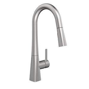 Belanger Kitchen Sink Faucet with Swivel Pull-Out Spout and Push Button Diverter - Stainless Steel