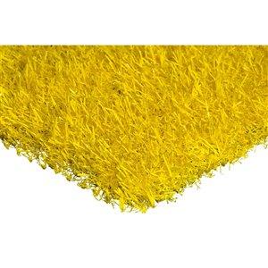 Tapis de gazon artificiel Color Turf de Trylawnturf, 15 pi x 6 pi, jaune