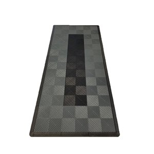 SwissTrax MotorMat Garage Floor Tile - 15.75-in x 15.75-in - Grey and Black - 45-Piece