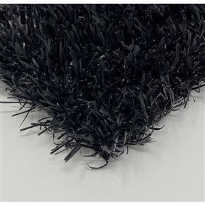 Tapis de gazon artificiel Diamond+ de Trylawnturf, 15 pi x 6,6 pi, noir